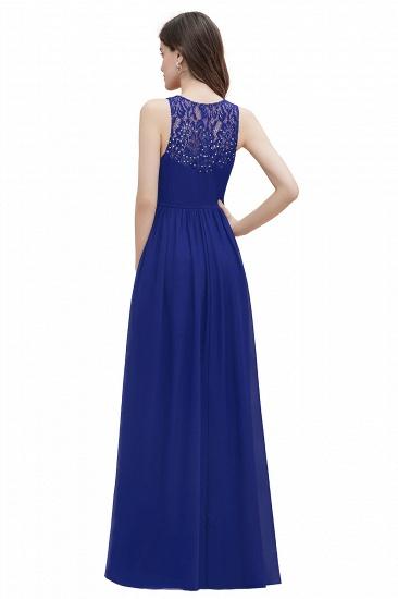BMbridal Elegant V-Neck Lace Ruffles Bridesmaid Dress Sequins Burgundy Chiffon Evening Dress_14