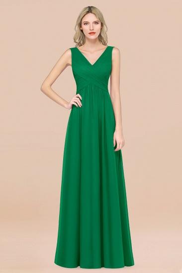 BMbridal Glamorous Chiffon V-Neck Sleeveless Burgundy Bridesmaid Dress with Draped Back_49