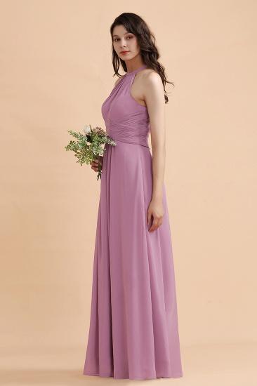 BMbridal Elegant Jewel Wisteria Chiffon Ruffles Bridesmaid Dress with Pockets On sale_5