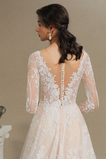 BMbridal Long Sleeves Lace Wedding Dress Online_13