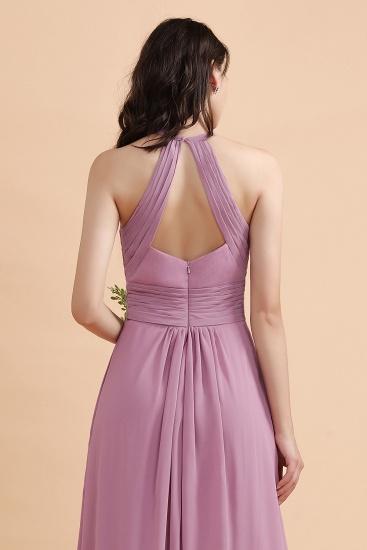 BMbridal Elegant Jewel Wisteria Chiffon Ruffles Bridesmaid Dress with Pockets On sale_9