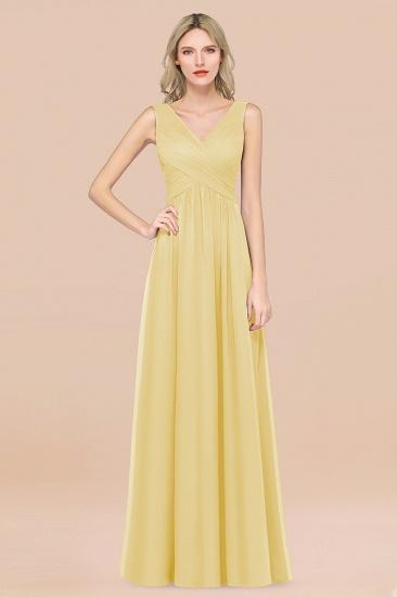 BMbridal Glamorous Chiffon V-Neck Sleeveless Burgundy Bridesmaid Dress with Draped Back_18