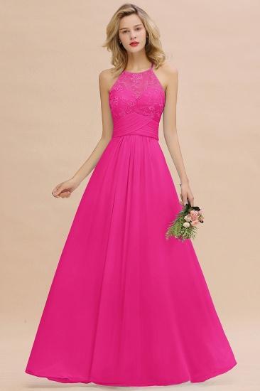 BMbridal Elegant Jewel Ruffle Affordable Chiffon Bridesmaid Dress with Appliques_1