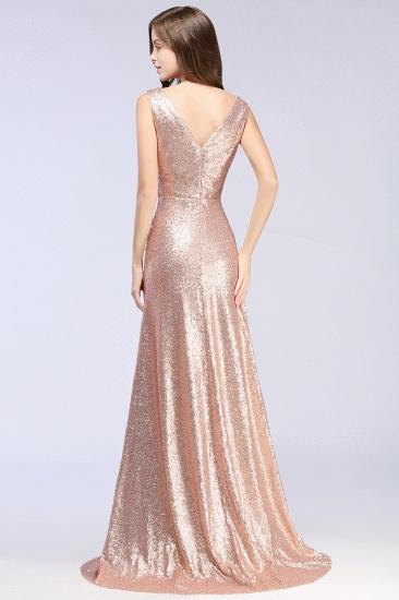 BMbridal Sparkly Sequined V-Neck Sleeveless Bridesmaid Dress Online_2