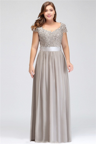 BMbridal A-line V Neck Chiffon Bridesmaid Dress with Appliques_15