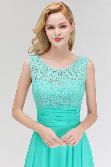 Elegant Lace Sleeveless Chiffon Long Bridesmaid Dress_1