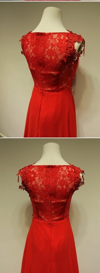 BMbridal Red Lace Appliques Long Prom Dress Chiffon Evening Gowns Online_6