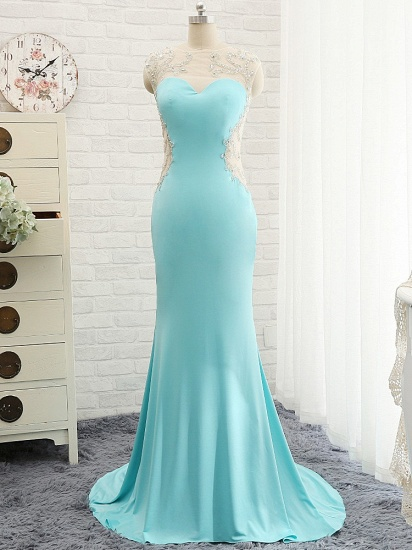 BMbridal Chic Mermaid Lace Appliques Prom Dress Long Evening Party Gowns Online_1