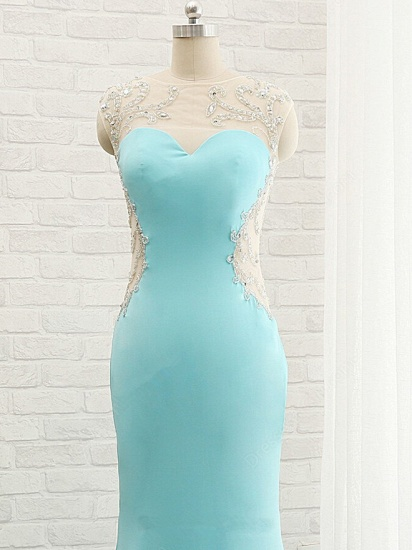 BMbridal Chic Mermaid Lace Appliques Prom Dress Long Evening Party Gowns Online_6