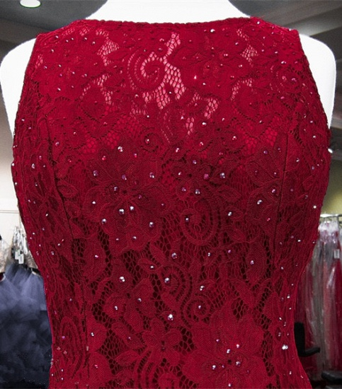 BMbridal Classic Burgundy Lace Evening Gowns Sleeveless Mermaid Prom Dress Online_4